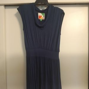 Fervour/ModCloth Blue Knit Dress